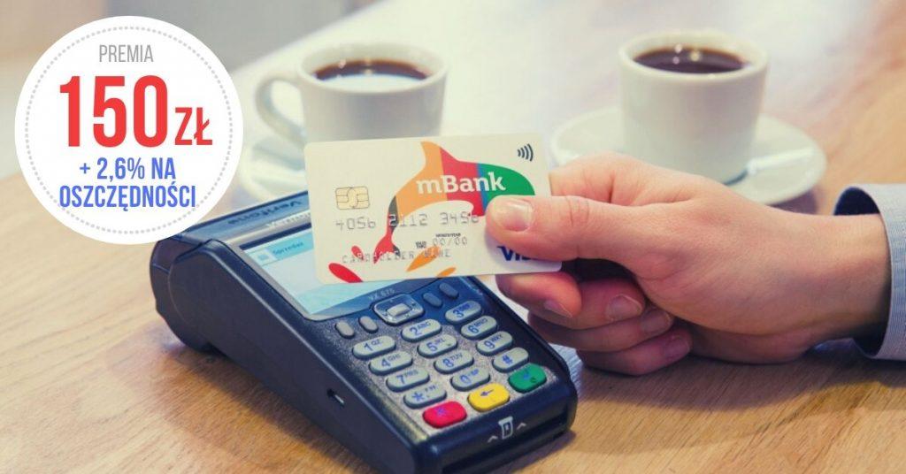 Promocja mBank premia za konto 150 zł