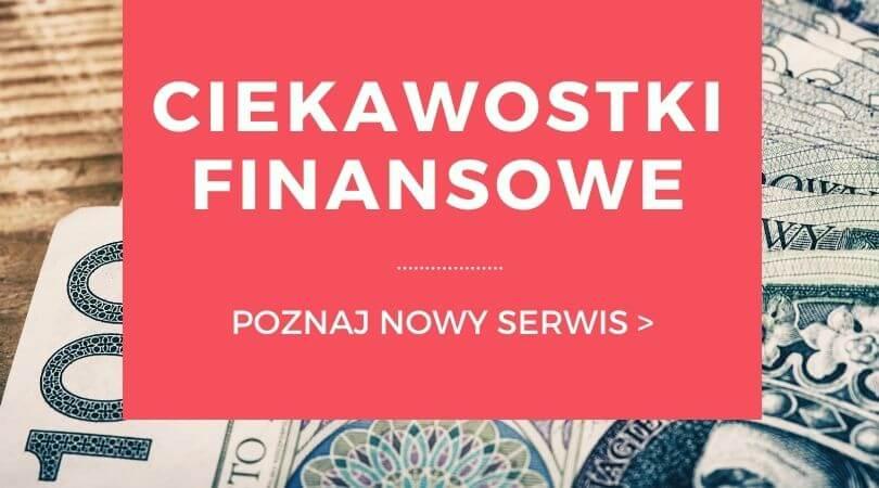 Banner serwisu Ciekawostki Finansowe